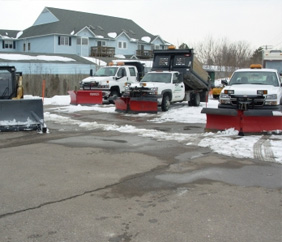 Commercial Snow Removal in Canton, MI - Executive Property Maintenance - icetruck