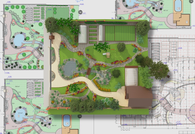 Redford Landscape Installation - Executive Property Maintenance - rendering3